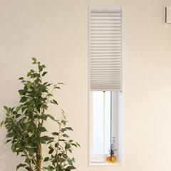 断熱スクリーン 小窓用断熱スクリーン 幅35×丈135cm 突っ張り棒付き ハニカムシェード ベージュ