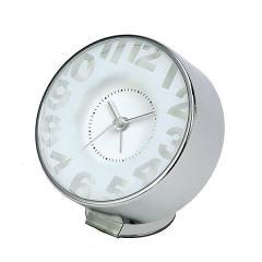 目覚まし時計 連続秒針 アラームクロック EDGE TRANSPARENT