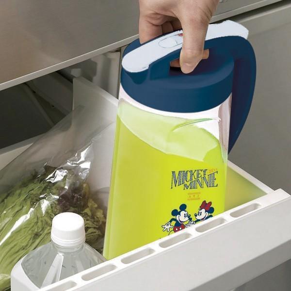 ピッチャー 冷水筒 2.1L ミッキーマウス ヴィンテージスタイル 耐熱 縦置き 横置き