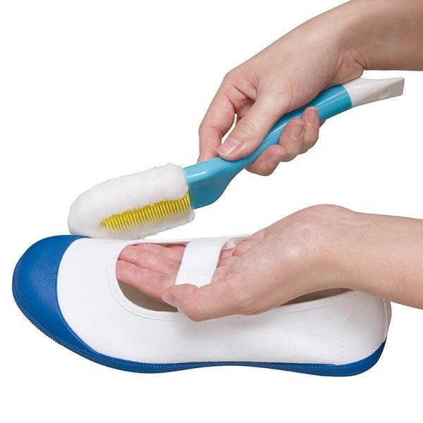 シューズブラシ 靴洗い ブラシ 激落ちくん