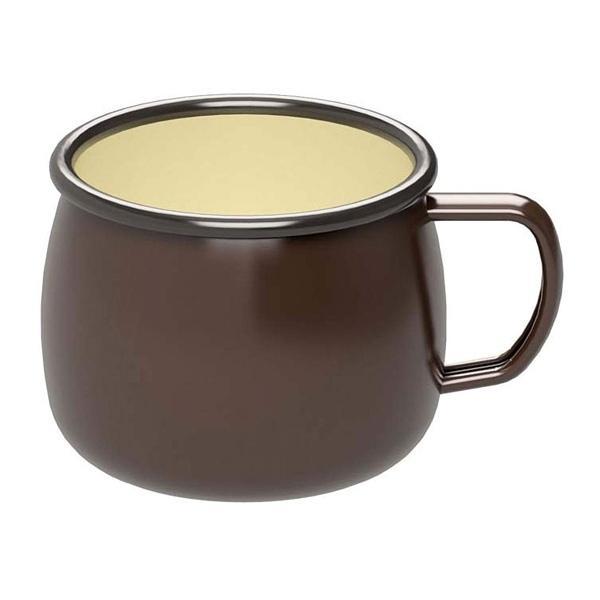 アウトドア食器 ホーロー マグカップ コップ キャプテンスタッグ ブラウン