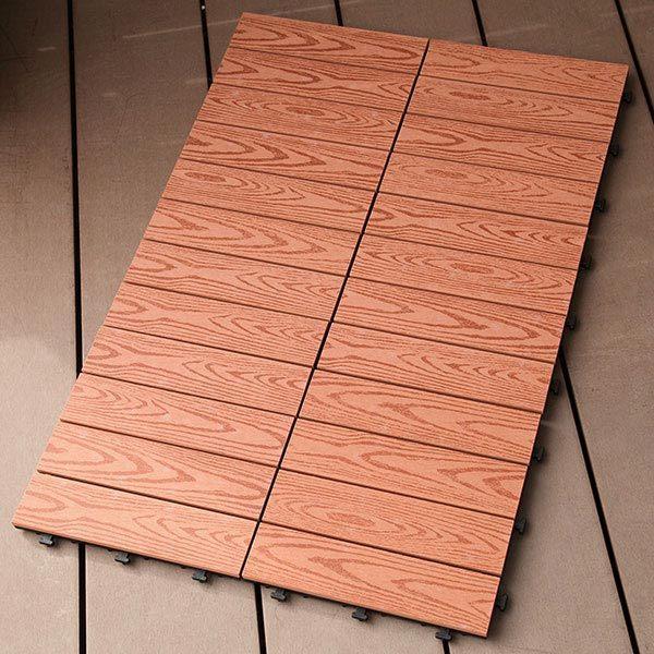 ウッドパネル 人工木 ベランダ用ジョイントタイル 6枚入り