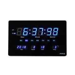置掛両用 大型 薄型 LED 置き時計 掛け時計 置掛両用時計 デジブルー