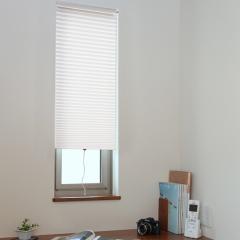 断熱スクリーン 突っ張り棒なし 幅35×高さ135cm 小窓用断熱スクリーン ハニカムシェード ホワイト