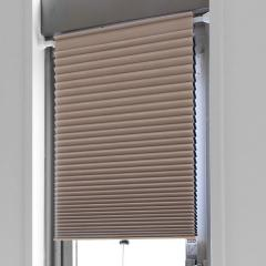 断熱スクリーン 遮光 突っ張り棒なし 幅59×高さ90cm UVカット 小窓用断熱スクリーン ハニカムシェード ベージュ