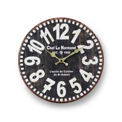 掛け時計 28.5cm アンティーク オールドルック ウォールクロック 壁掛け時計 ブラック