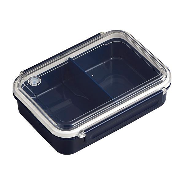 お弁当箱 1段 まるごと冷凍弁当 650ml ランチボックス 保存容器 ネイビー( 弁当箱 作り置き レンジ対応 食洗機対応 シンプル 一段 仕切りつき 電子レンジ 仕切り付 作りおき 冷凍 保存 べんとう 容器 お弁当グッズ ランチグッズ )
