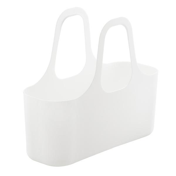 ミニバスケット S プレーン S&W サンバッサ 小物入れ バスケット 持ち手付き ホワイト