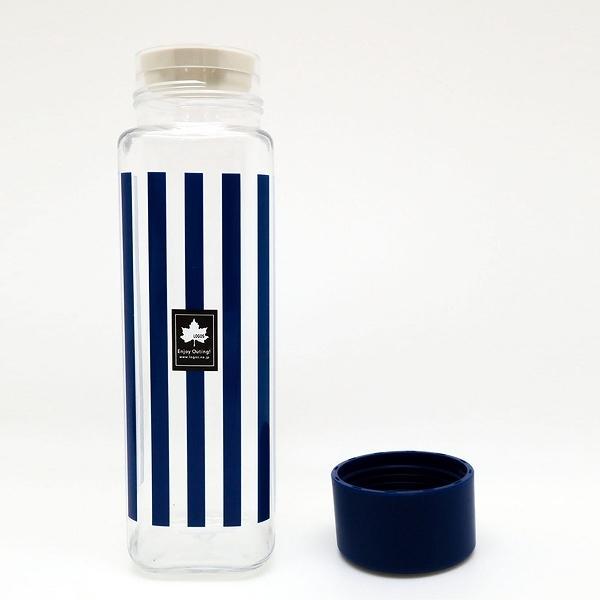 水筒 直飲み プラスチック LOGOS スクエアボトル 400ml 軽量( スリム クリアボトル 常温 マグボトル ボトル ダイレクトボトル ウォーターボトル プラスチック製 直飲みボトル 子供 シンプル ロゴス 日本製 )