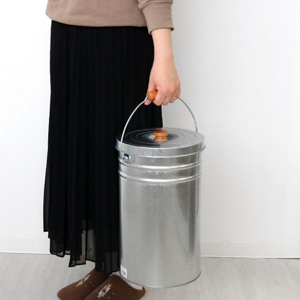 米びつ 12kg 丸型 トタン 袋のまま トタン花柄