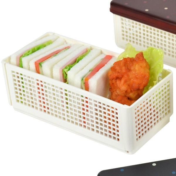 お弁当箱 サンドイッチケース Have a Lunch ドット ランチベーカリー 折りたたみ式 ウッドブラウン