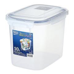 保存容器 4面ロック式 スマートロック ジャンボケース 10L ( 密閉容器 密閉保存容器 4点ロック プラスチック製保存容器 フードストッカー 保存ケース 食品保存 ドッグフード キャットフーの画像