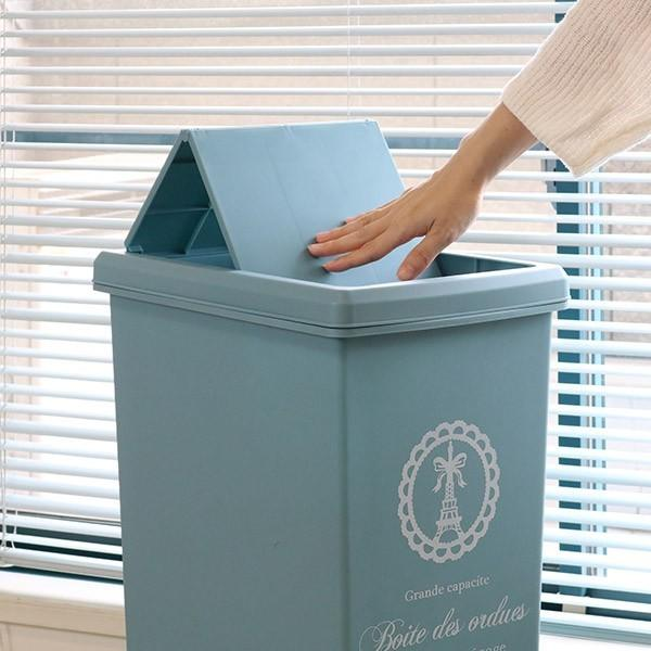 ゴミ箱 分別 45L ふた付き スライドペール 45リットル ブルー