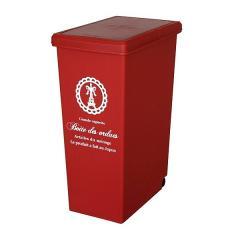 ゴミ箱 分別 45L ふた付き スライドペール 45リットル レッド