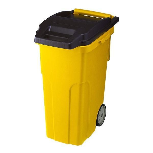 分別ゴミ箱 キャスターペール 4輪 45L イエロー( ごみ箱 ゴミ箱 分別 ダストBOX くずかご ダストボックス 分別  )