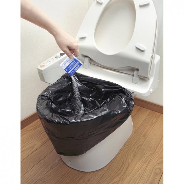 10%OFFクーポン対象商品 防災用トイレ袋 30回分  クーポンコード:KZUZN2T