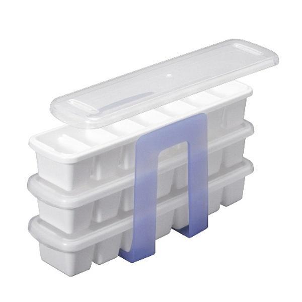5%OFFクーポン対象商品 製氷皿 アイストレー 3段 スリムタイプ  クーポンコード:V6DZHN5