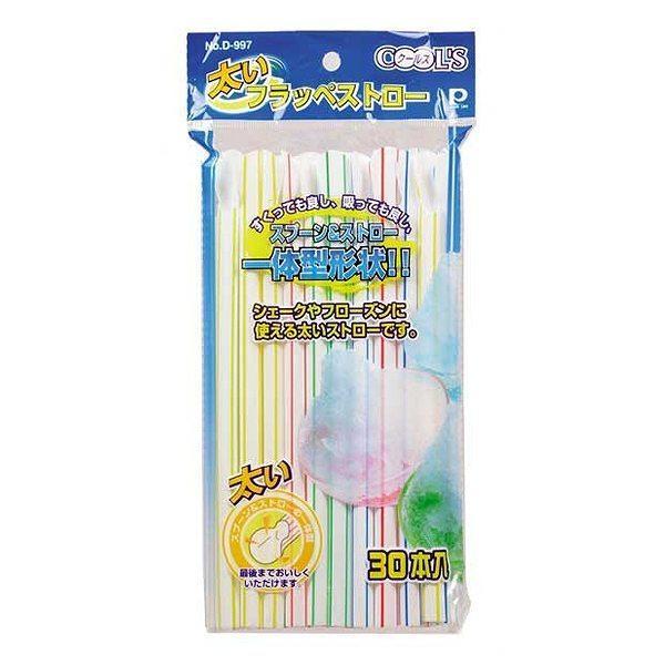 5%OFFクーポン対象商品 クールズ 太いフラッペストロー ( かき氷用ストロー スプーンストロー スプーン付きストロー かき氷スプーン 太め ) クーポンコード:V6DZHN5