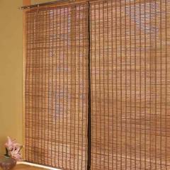 ロールスクリーン 燻製竹 88×135cm バンブースクリーン ロールアップスクリーン
