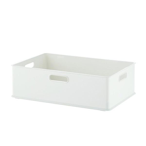 10%OFFクーポン対象商品 収納ボックス 収納ケース squ+ インボックス M プラスチック 日本製 ホワイト クーポンコード:KZUZN2T