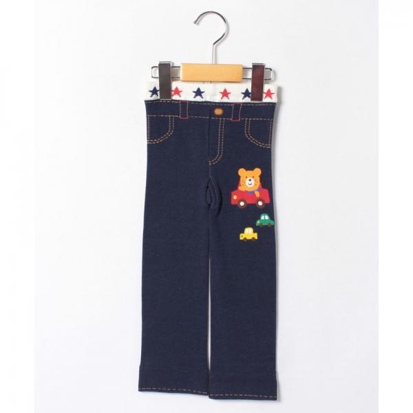 ドライブビーンズ&リボンキャビット☆ぽかぽか素材のスパッツ(80~100cm)