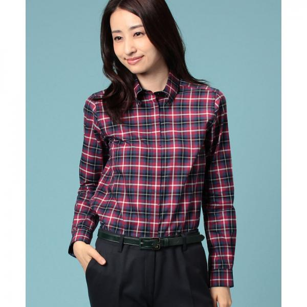 クランタータンチェックシャツ