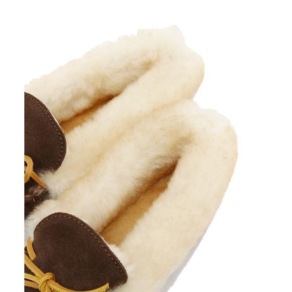 【秋冬人気定番モデル】ミネトンカ ALPINE SHEEPSKIN MOC(レッド)