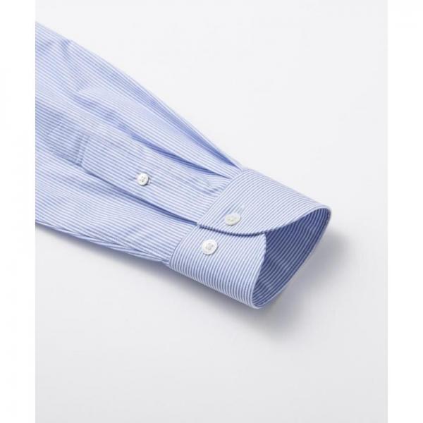 【日本製】【イージーケア】ドビーストライプシャツ【お取り寄せ商品】