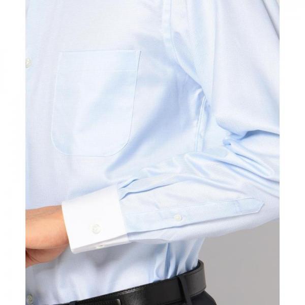 【日本製】【イージーケア】モノトーン千鳥シャツ【お取り寄せ商品】