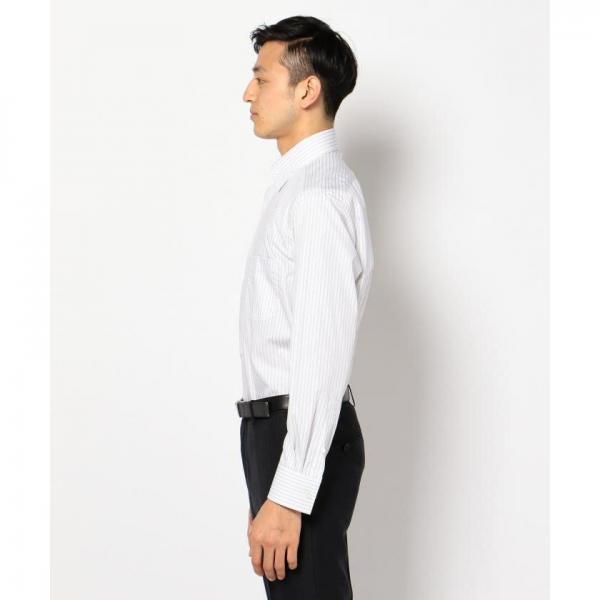 【日本製】【イージーケア】ドビーピンストライプシャツ【お取り寄せ商品】
