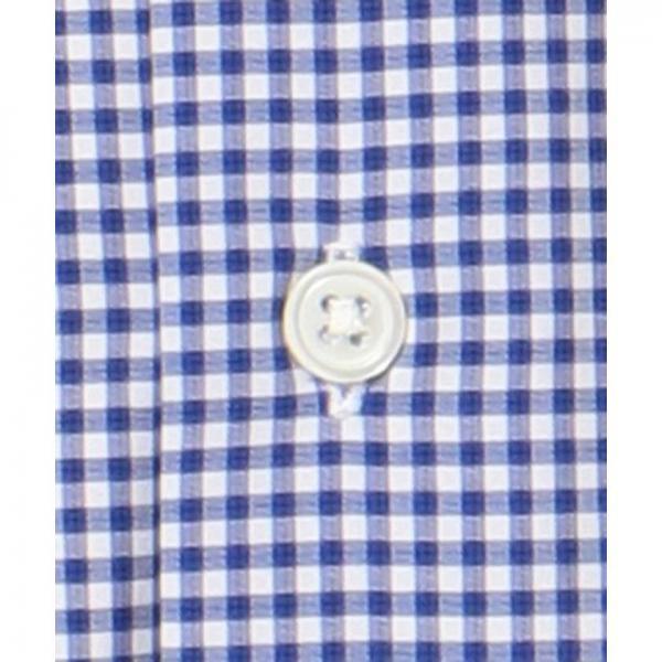 【日本製】【イージーケア】ギンガムボタンダウンシャツ【お取り寄せ商品】