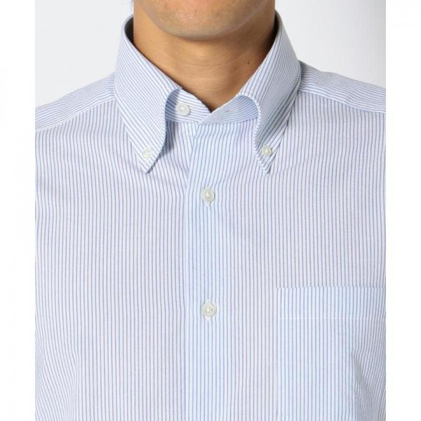 【サッカー織り】【日本製】サッカーストライプシャツ【お取り寄せ商品】
