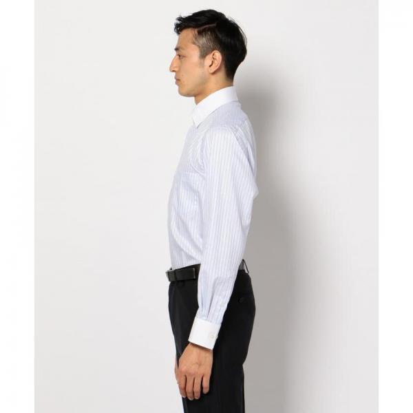 【日本製】【イージーケア】ドビーストライプシャツ