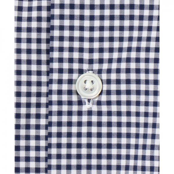 【日本製】【イージーケア】ギンガム半袖シャツ【お取り寄せ商品】