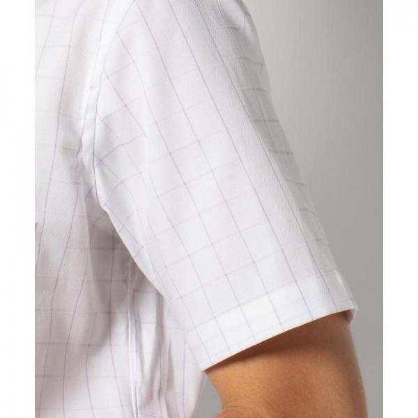 【日本製】半袖ウインドウペンシャツ【お取り寄せ商品】