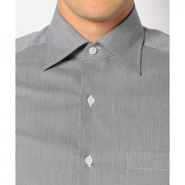 【イタリア生地】【日本製】ALBINIストライプシャツ【お取り寄せ商品】