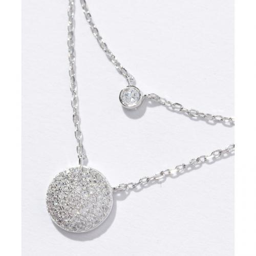 FASHIONABLY SILVER サークルモチーフ2連ネックレス