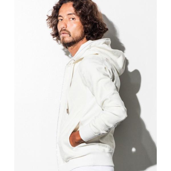 【1PIU1UGUALE3 RELAX】ラインストーン付カモフラージュ柄ジャガードフードパーカ