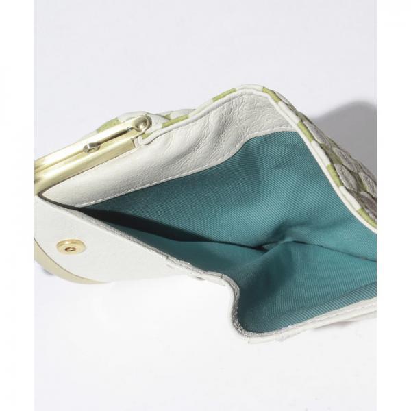 市松二つ折り財布