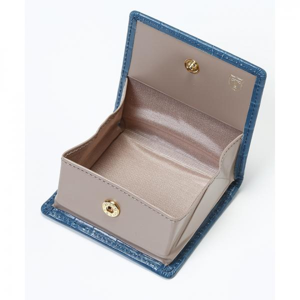 クロコ型押し・ボックス型小銭入れ