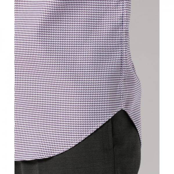 【日本製】バイカラーヘリンボンシャツ【お取り寄せ商品】