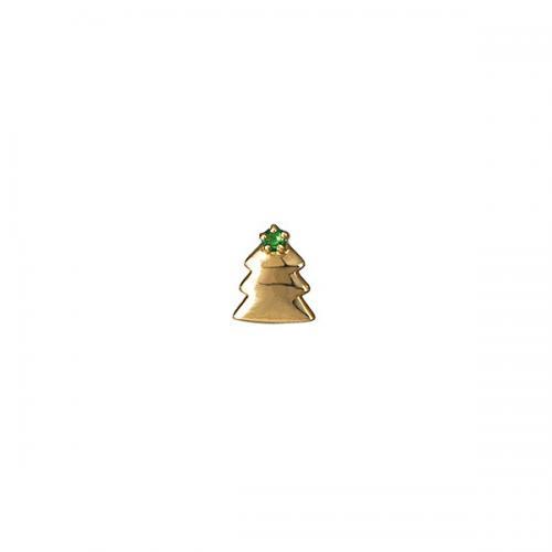 [セカンドピアス] K18ハーフピアス(クリスマスツリー)