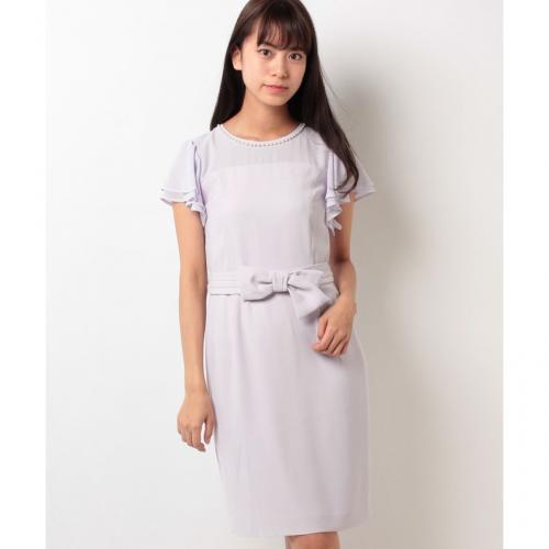 ウエストリボンタイトドレス