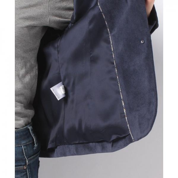 コーデュロイのテーラードジャケット