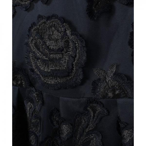 チュールカット刺繍ワンピース