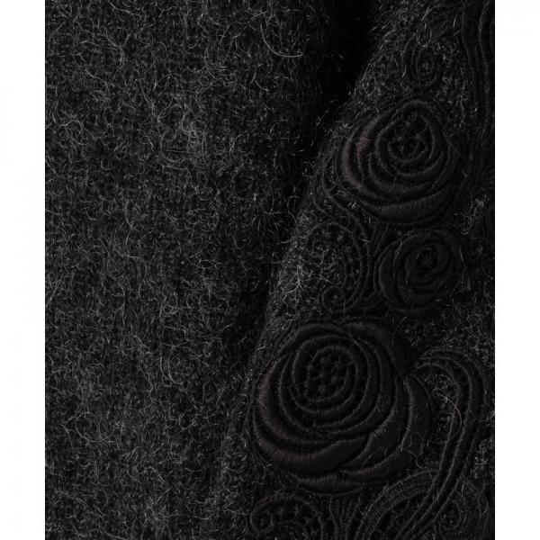 【特別提供品】フラワー刺繍ニットプルオーバー