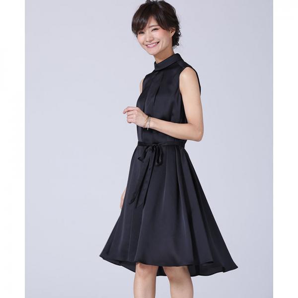 【TVドラマ着用】FOロールカラーサテンワンピース