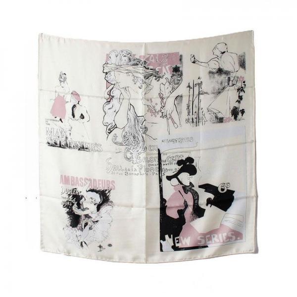 【Oggi5月号掲載】ロートレック柄スカーフ