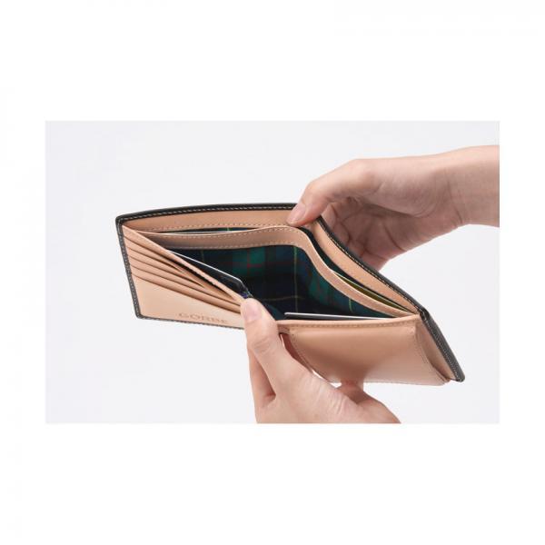 GORBE メトロポリタンブライドルレザー二つ折り財布(ユニオンジャック)