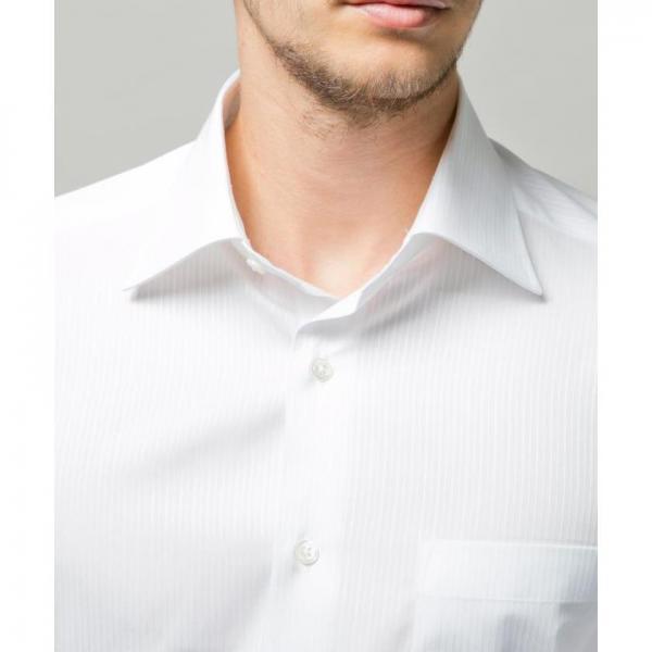 【日本製】白ドビーストライプシャツ【お取り寄せ商品】